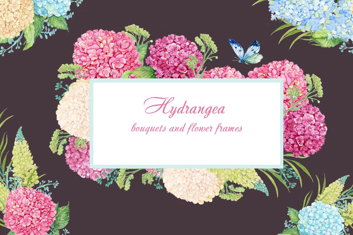 hydrangea watercolor clipart example image 5