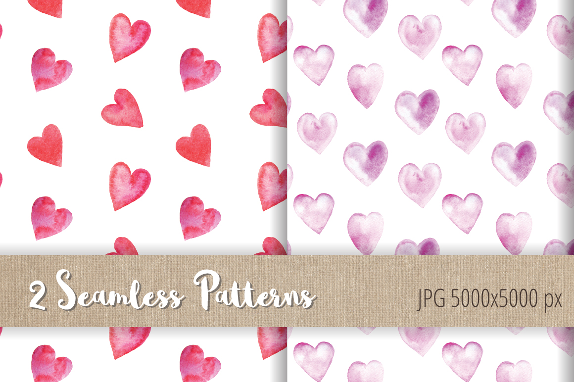 Watercolor Valentine Collection example image 6