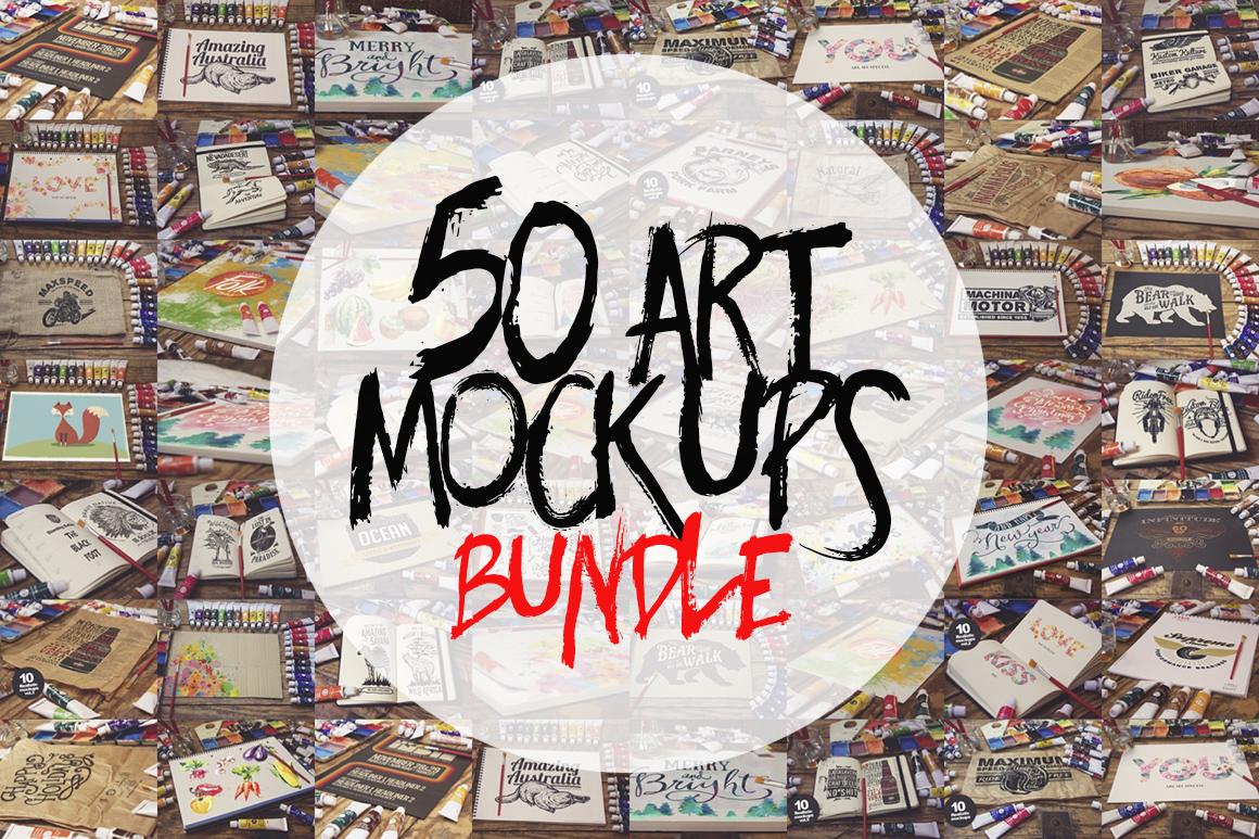 50 Art Mockups Bundle -60OFF example image 1