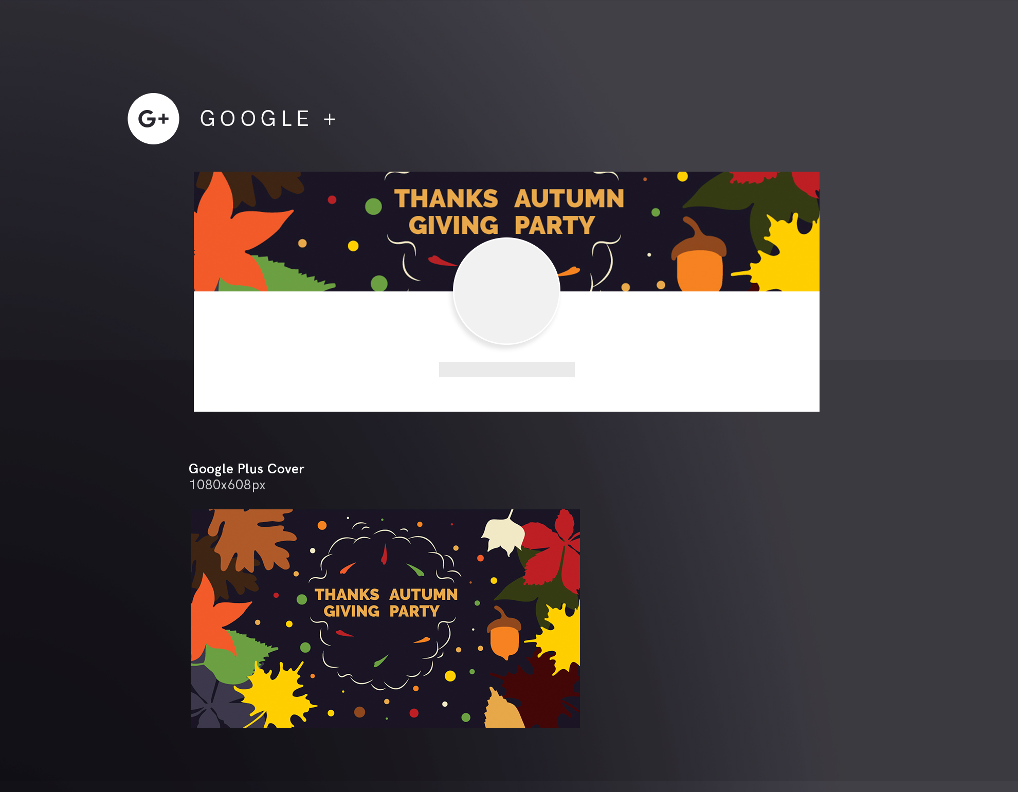 Thanksgiving Autumn Party Design Templates Bundle example image 8