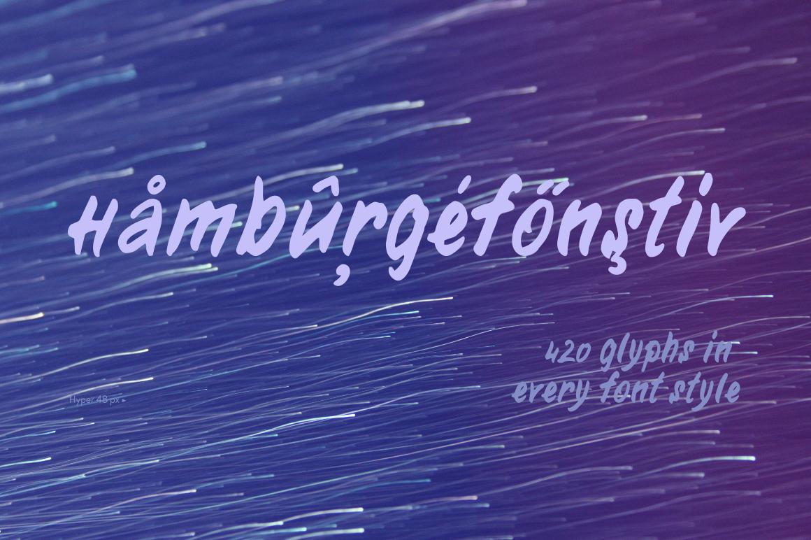 Hyper—handwritten font example image 3