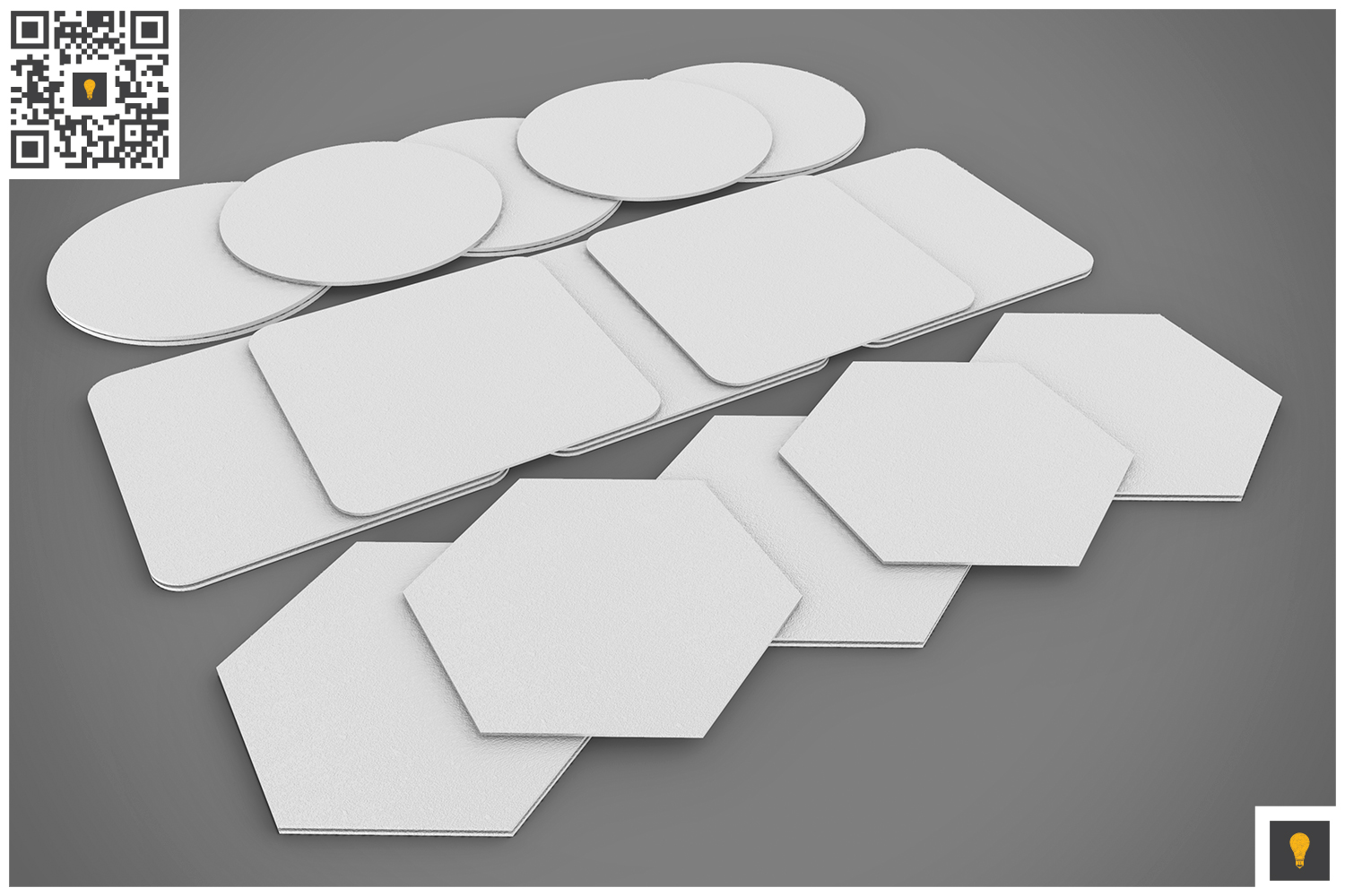 Paper Coaster 3D Render example image 9