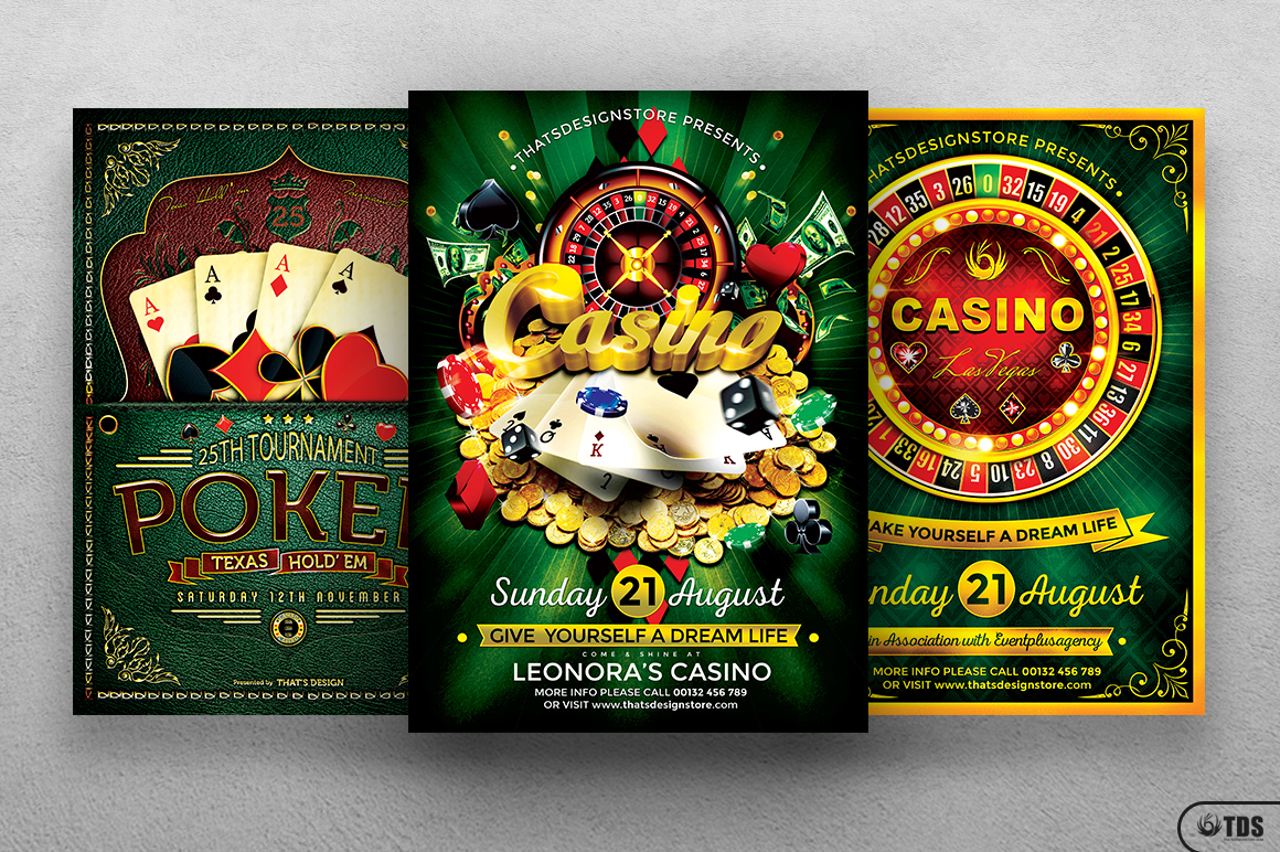 Poker and Casino Flyer Bundle example image 1