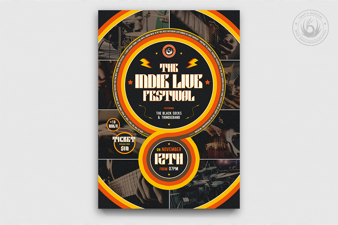 Indie Fest Flyer Template V6 example image 1