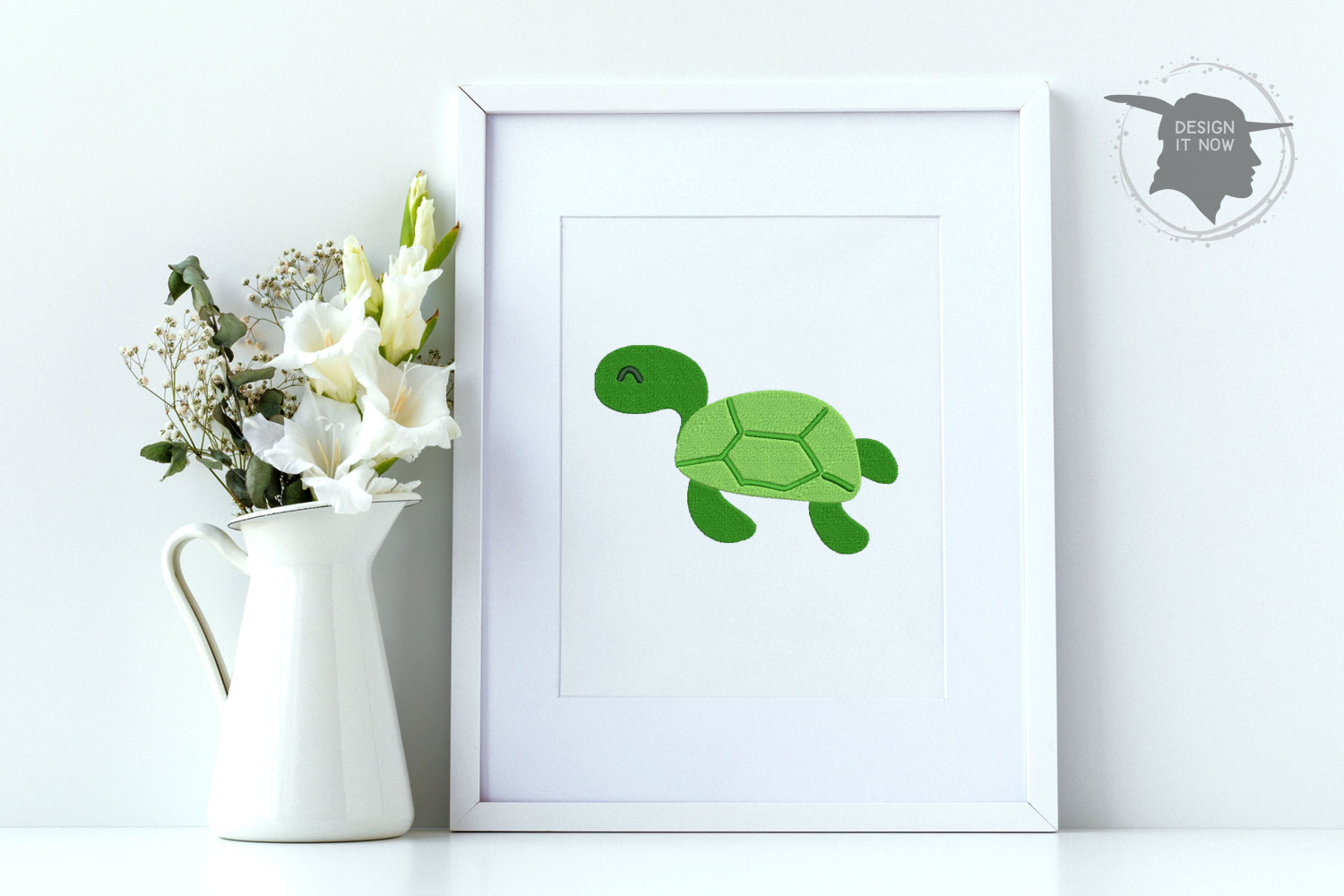 Turtle Embroidery Design, Turtle Embroidery Pattern, Sea example image 2