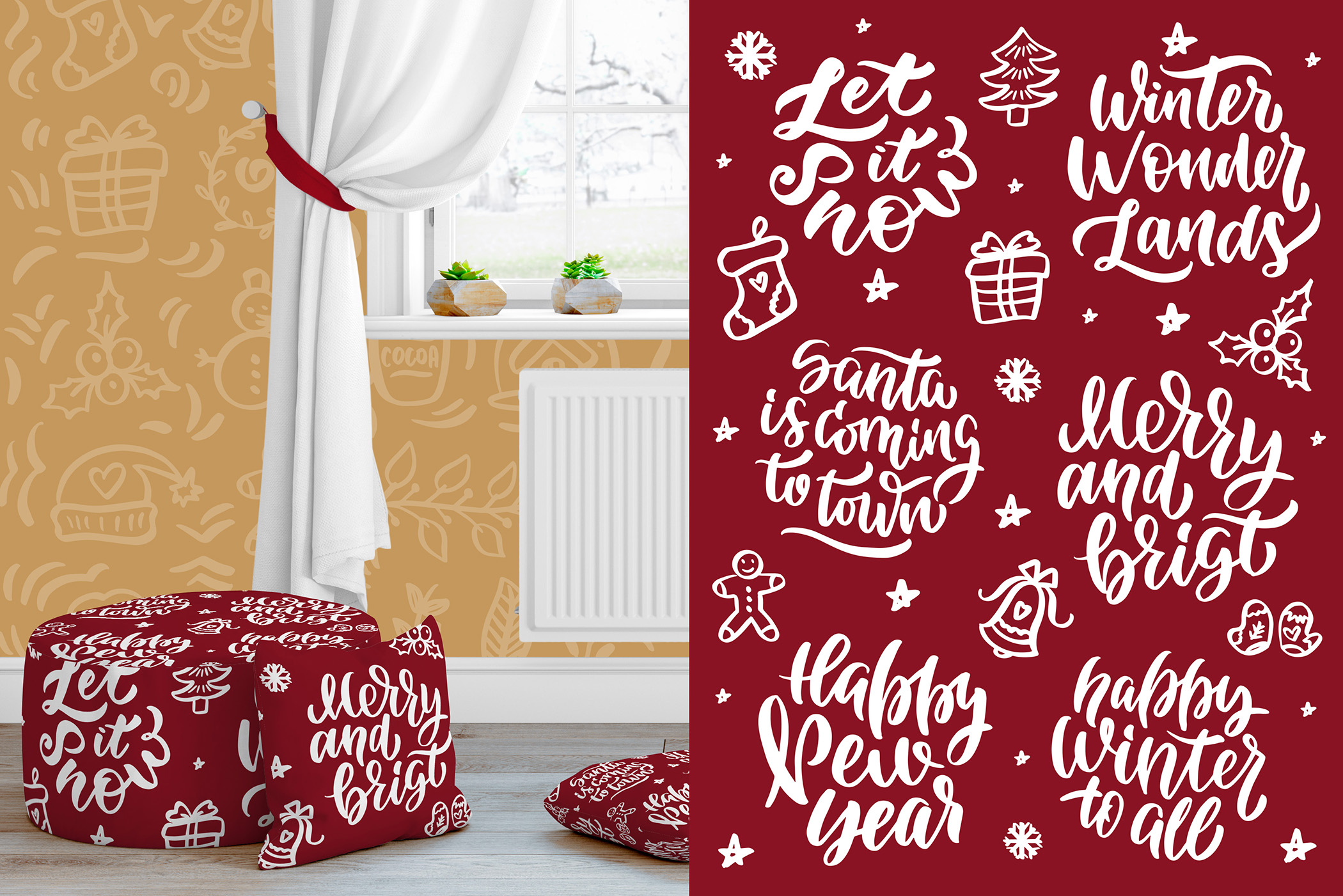 Christmas time lettering pack example image 9