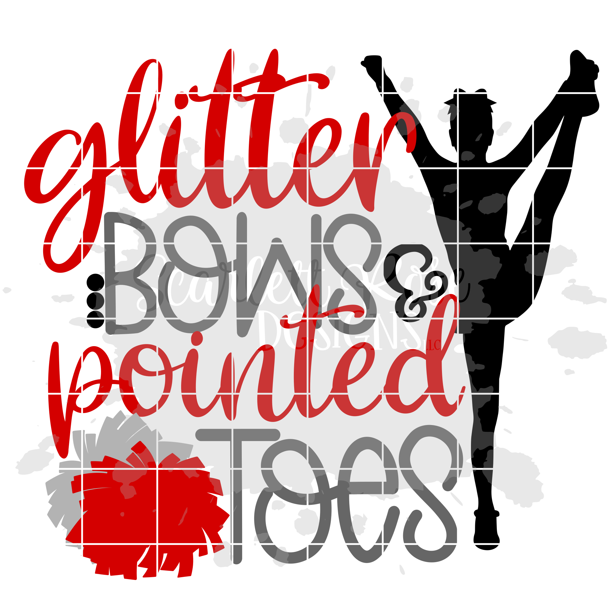 b67ba2967c43 Glitter Bows & Pointed Toes SVG example image 2