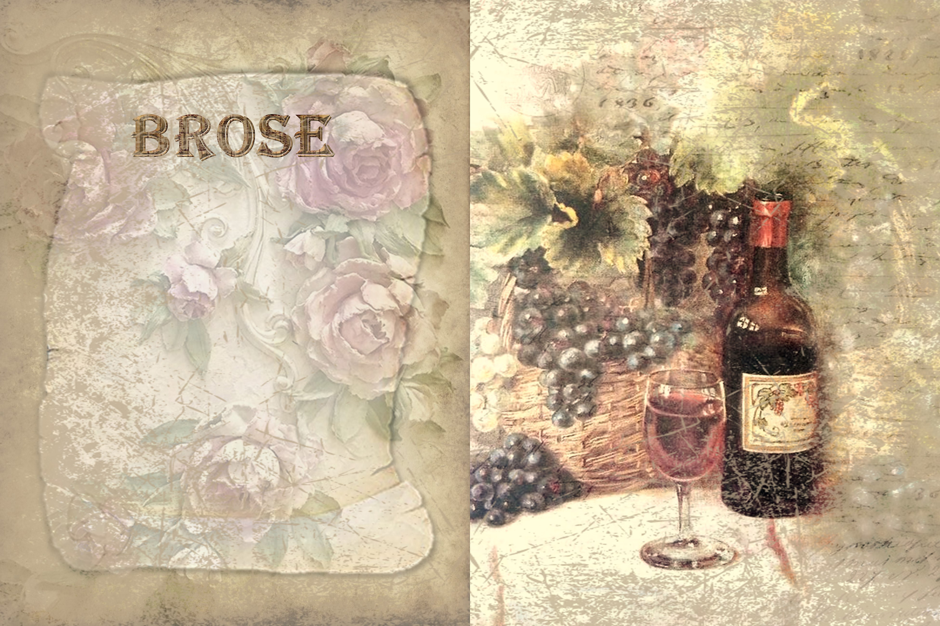 10 Wine Journaling backgrounds printable commercial use example image 5