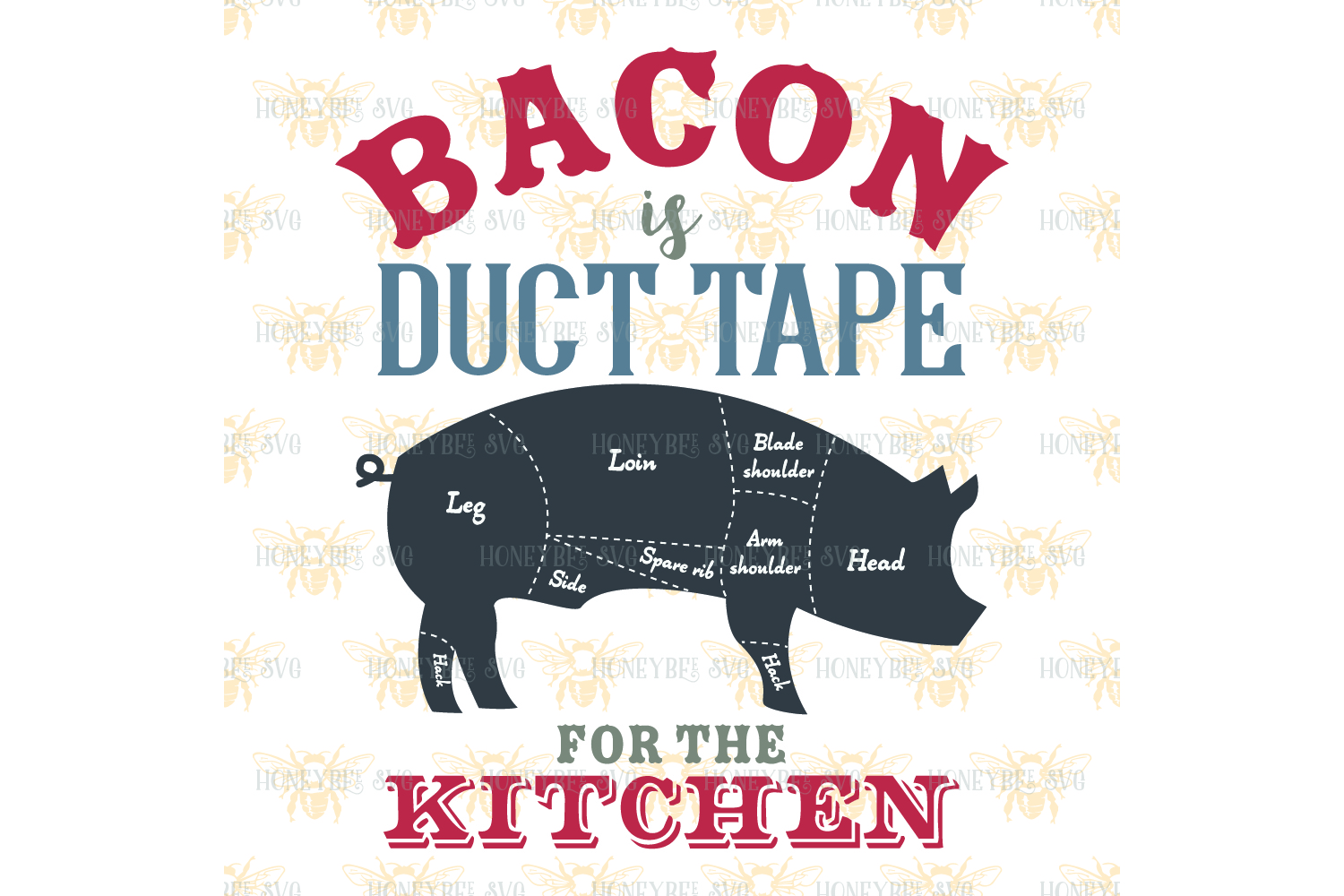 Bacon is Duct Tape svg example image 2