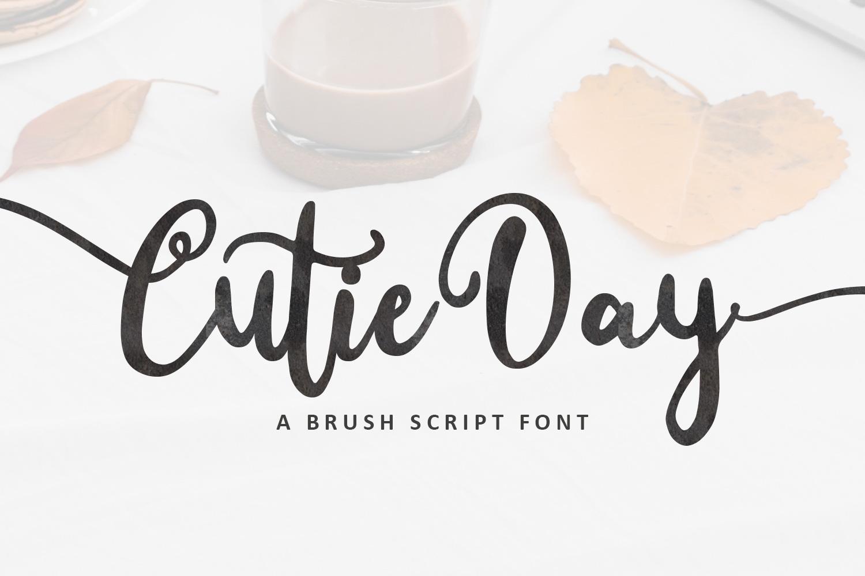 Cutie Day - Cute Script Font example image 1