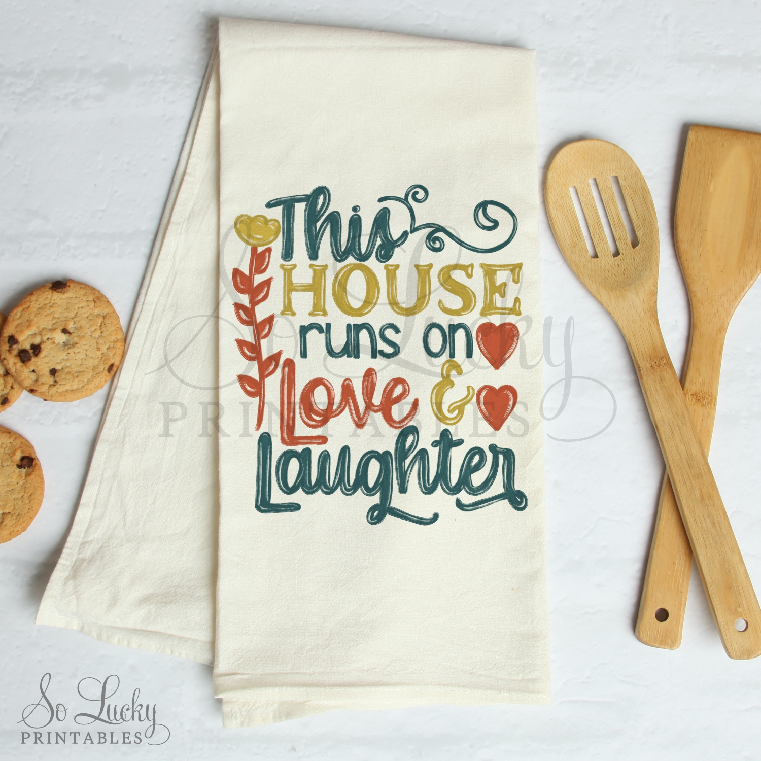 This house runs on love and laughter sublimation design example image 2