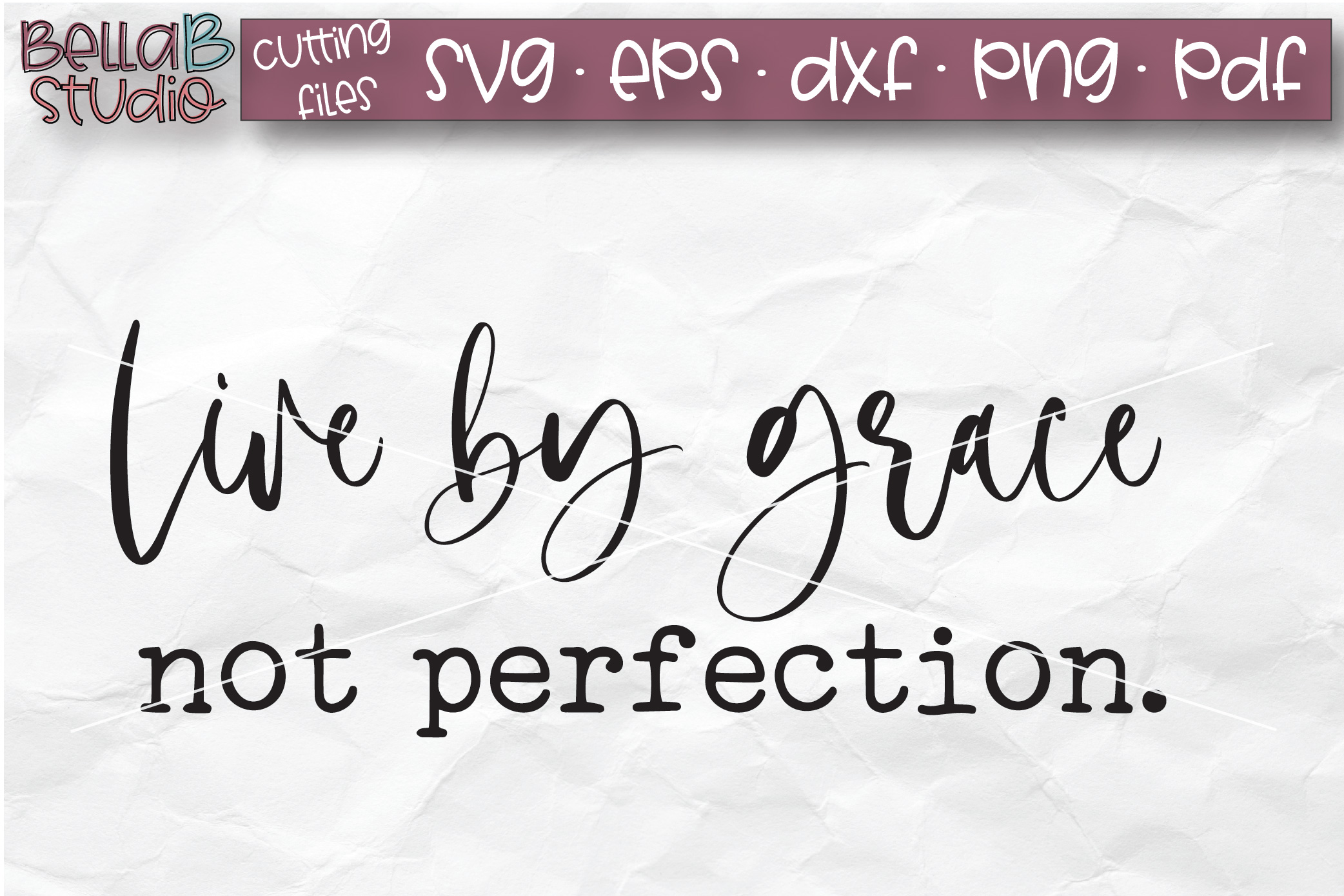 Live By Grace Not Perfection SVG, Christian Quote SVG example image 2