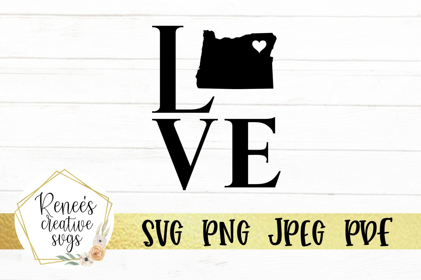Oregon love with heart | State SVG | SVG Cutting file example image 2