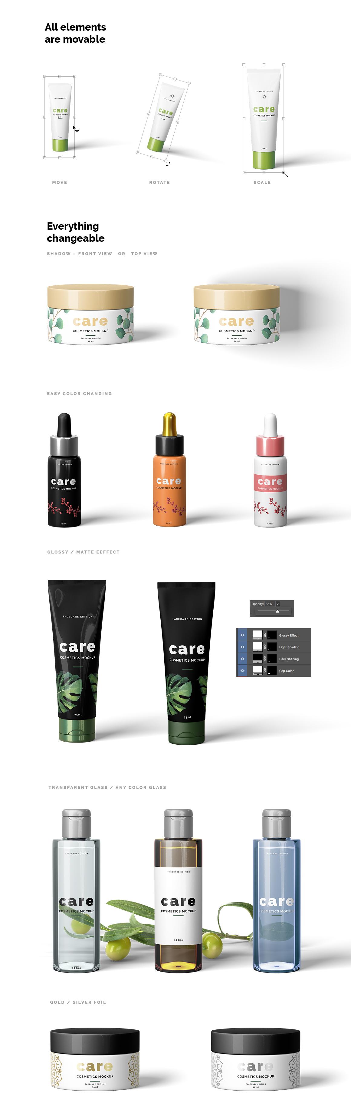 Cosmetic Mockup Scene Creator example image 3