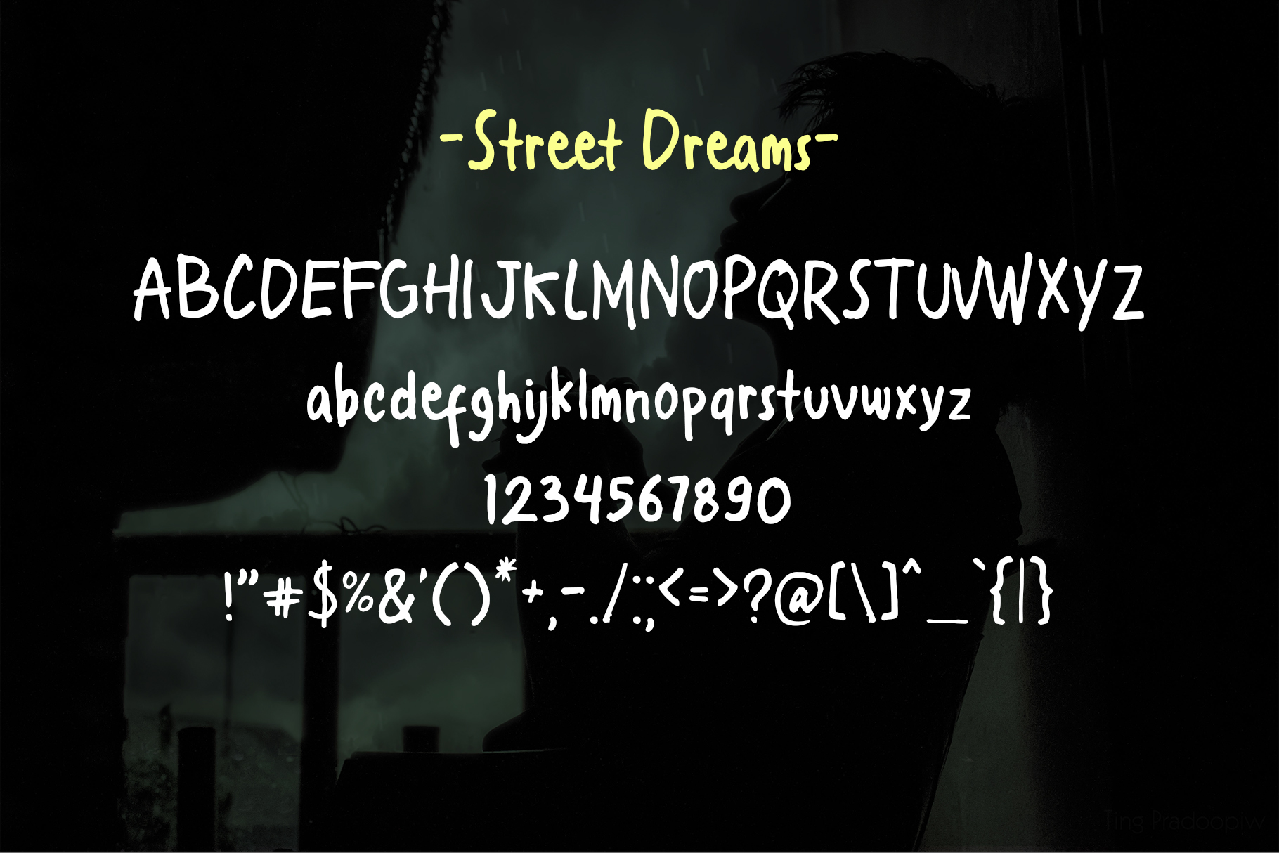Street Dreams font example image 2