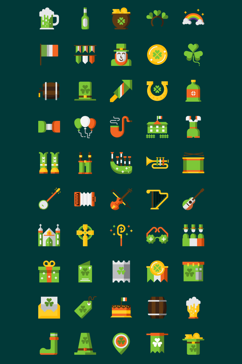 St.Patrick's Day Icons example image 5