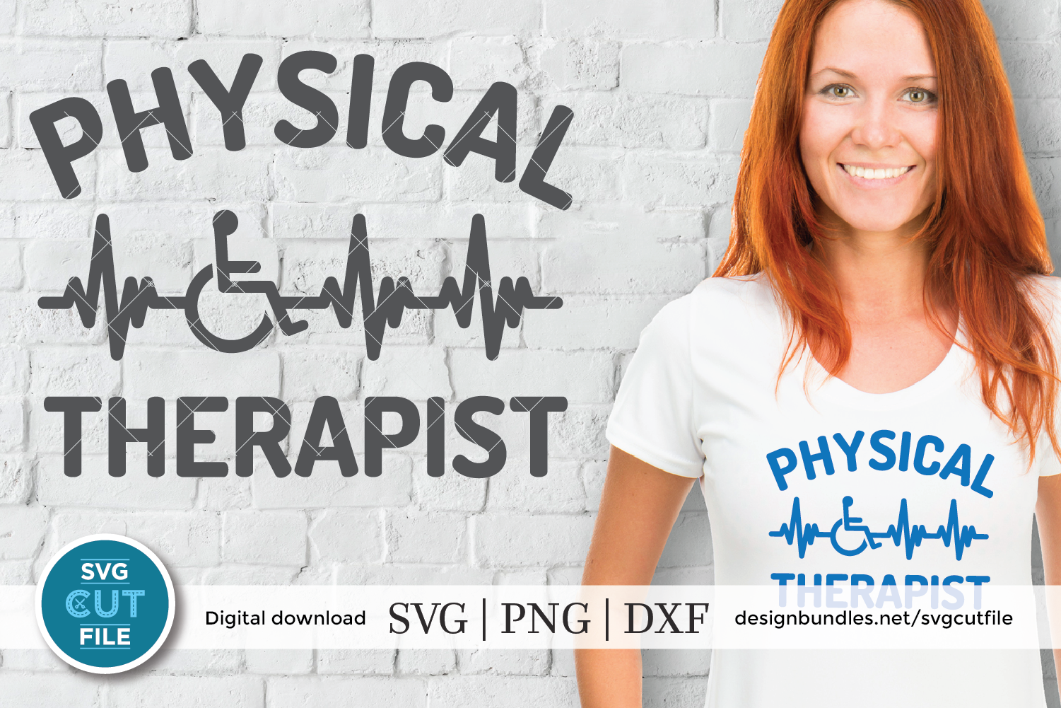 Physical therapist svg, physical therapy svg, ekg svg dxf example image 1