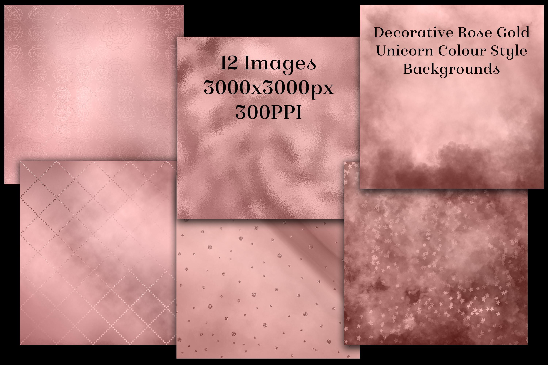 Decorative Rose Gold Unicorn Colour Style Backgrounds example image 2