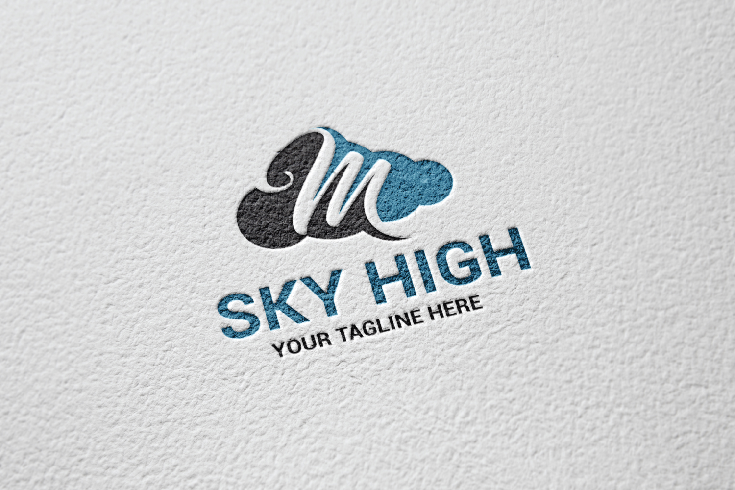 M letter sky logo example image 2