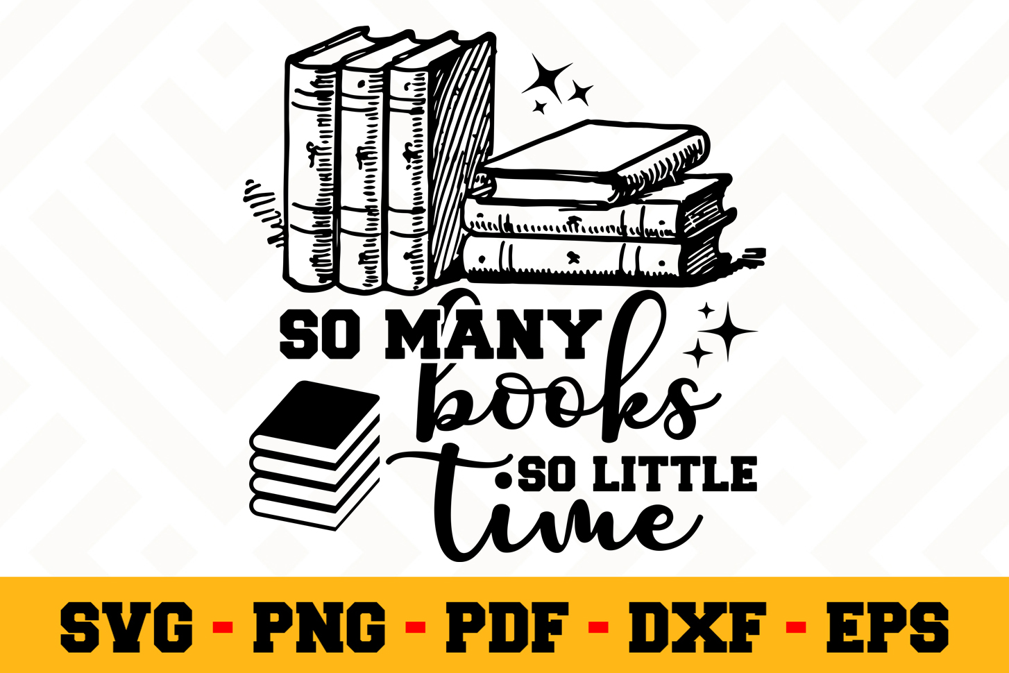 Book Lover SVG Design n621  Reading SVG Cut File example image 1