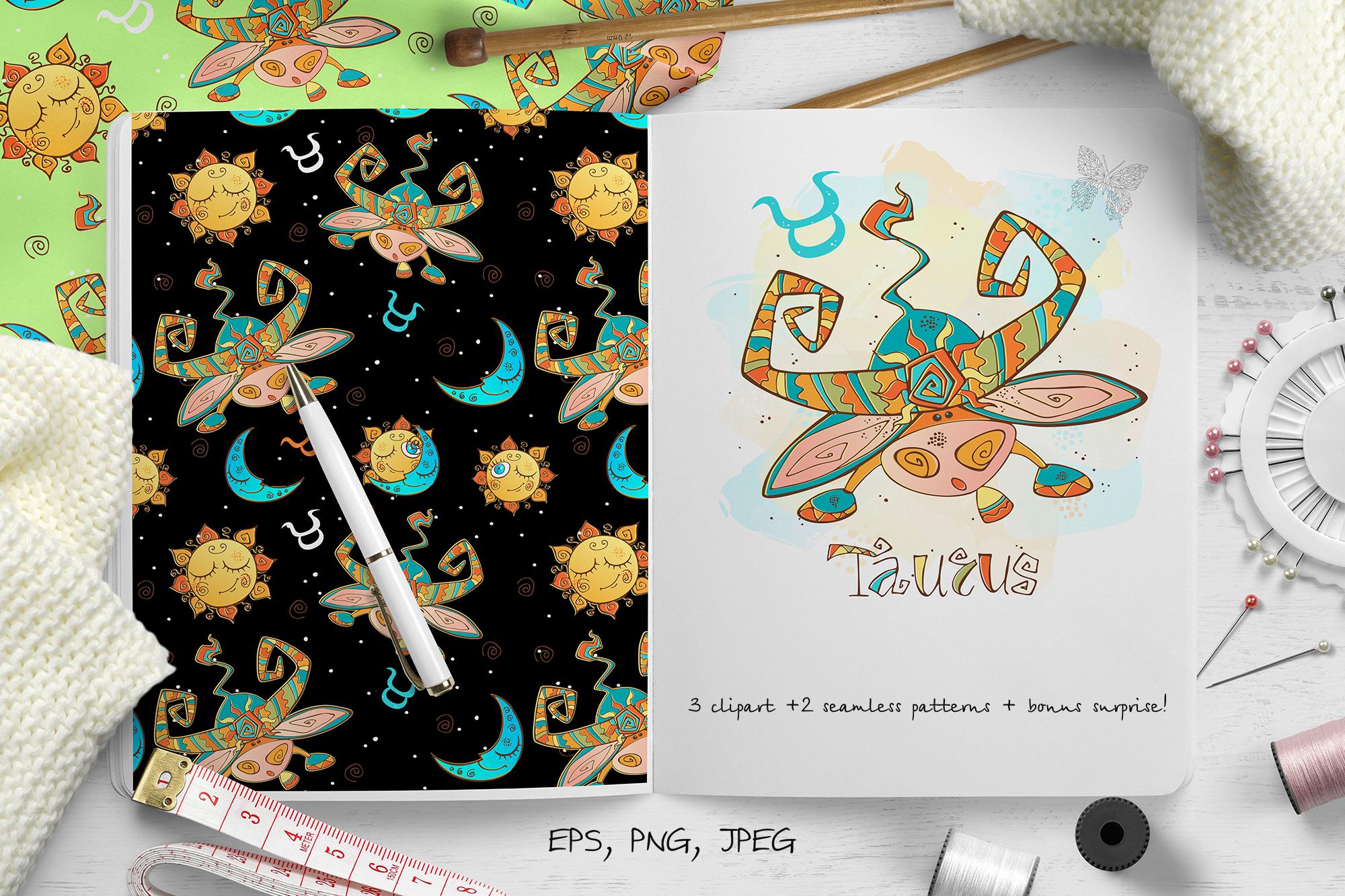 Taurus zodiac sign. For children.  example image 1