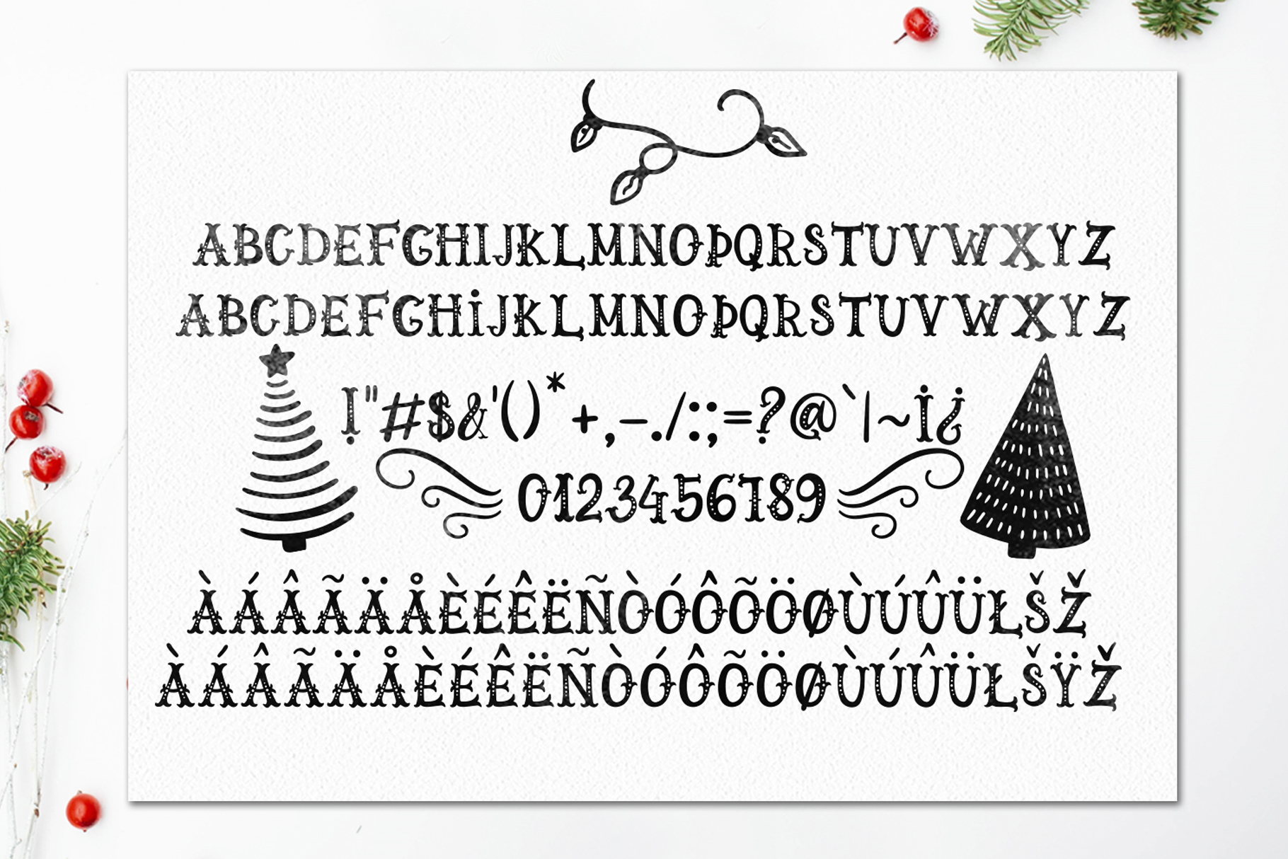 LaLaLapland. Christmas Fonts collection & illustrations example image 10