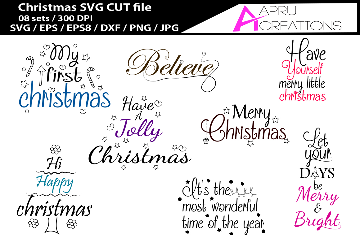 Christmas SVG cutting files bundle example image 1