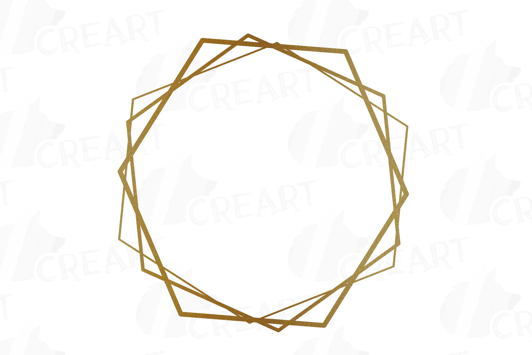 Glitter golden elegant wedding geometric frames png