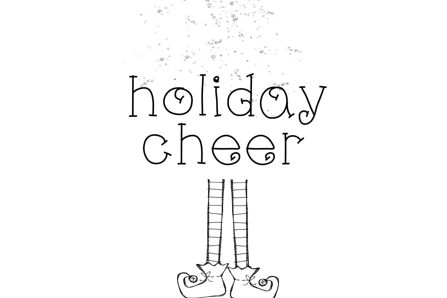 Little Reindeer - A Cute Handwritten Font example image 5