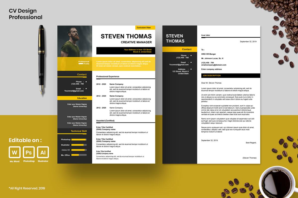 Resume Template CV Mega Bundles Professional !! example image 2