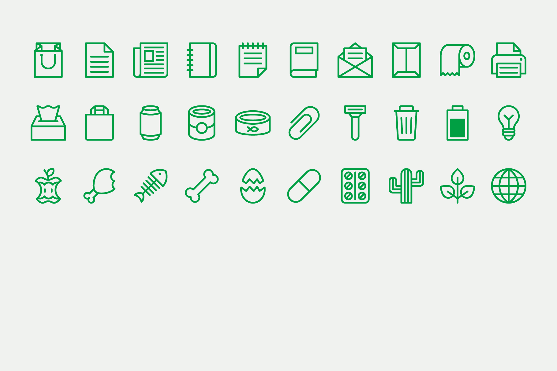 Waste Recycling Line Icons example image 5