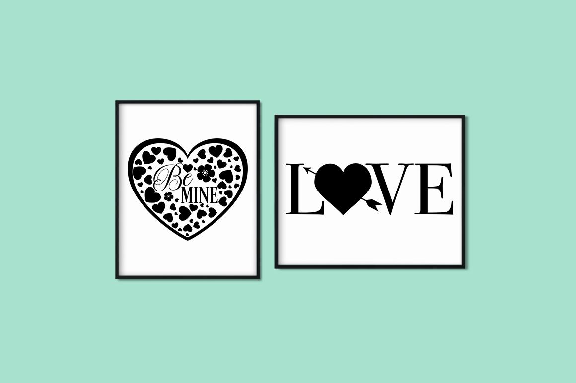 Love Quotes Bundle - Valentine SVG Cut Files example image 4