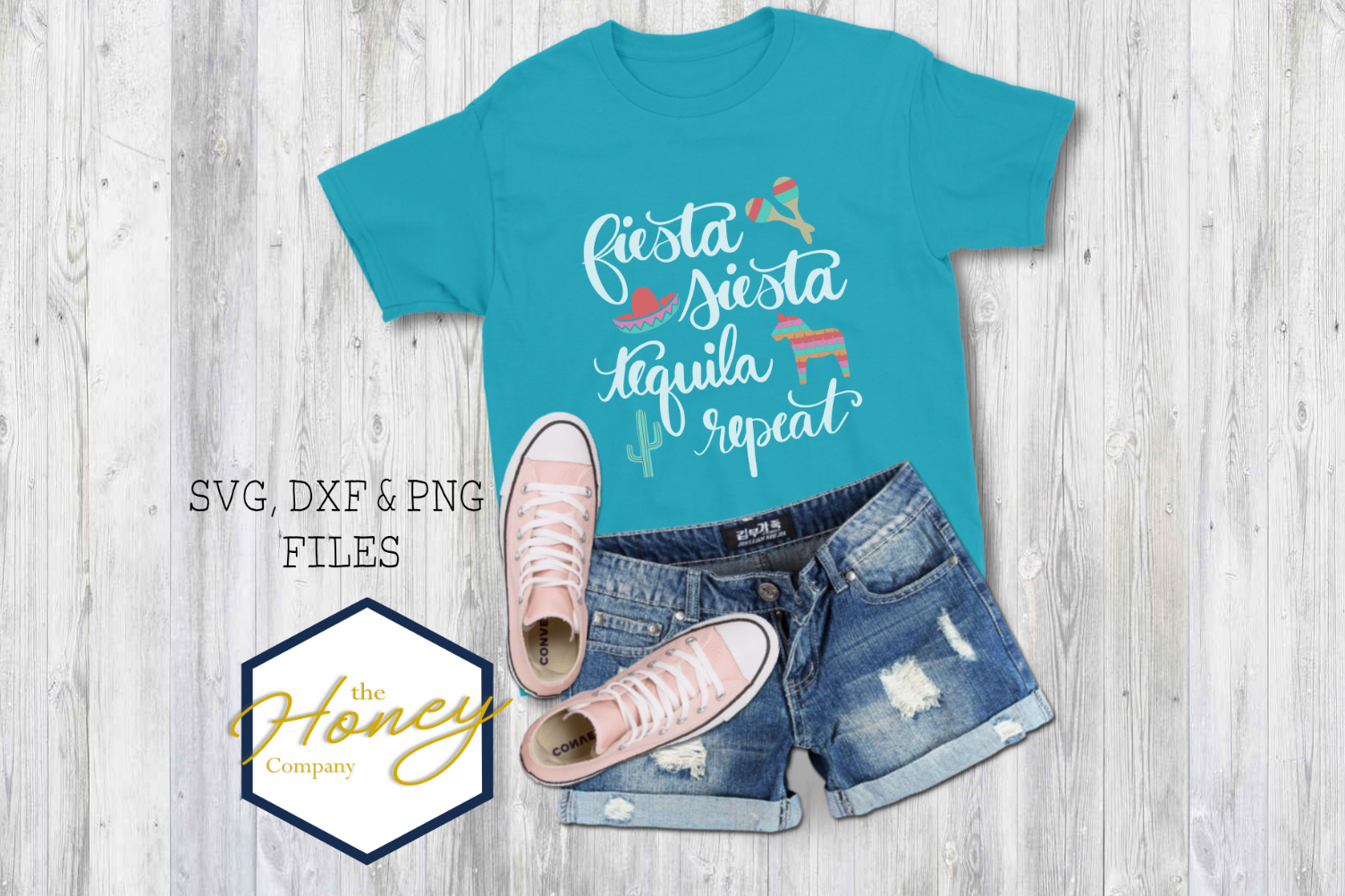 FIesta Siesta Tequila Repeat SVG PNG DXF Cinco De Mayo File example image 1