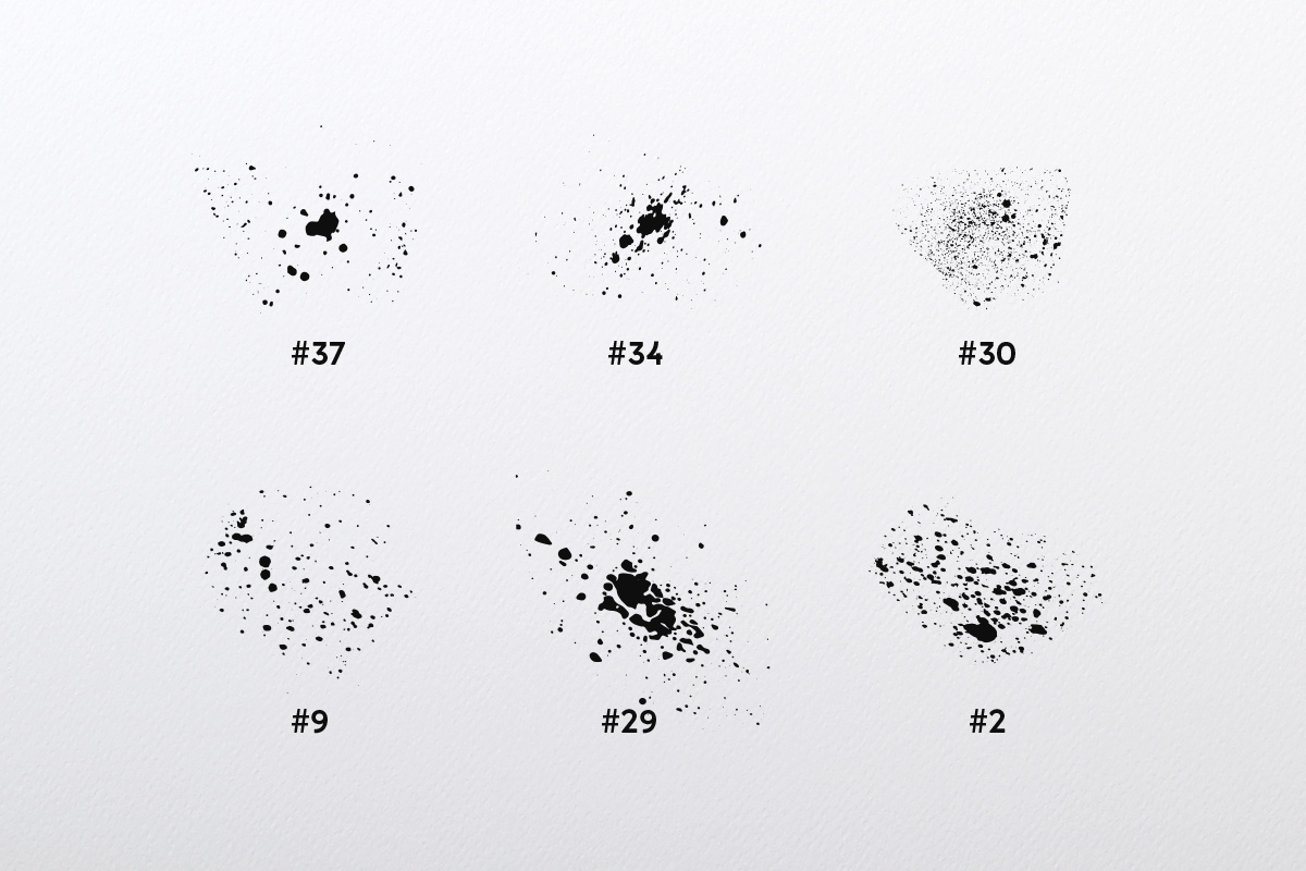 Splatter Brush Collection example image 5