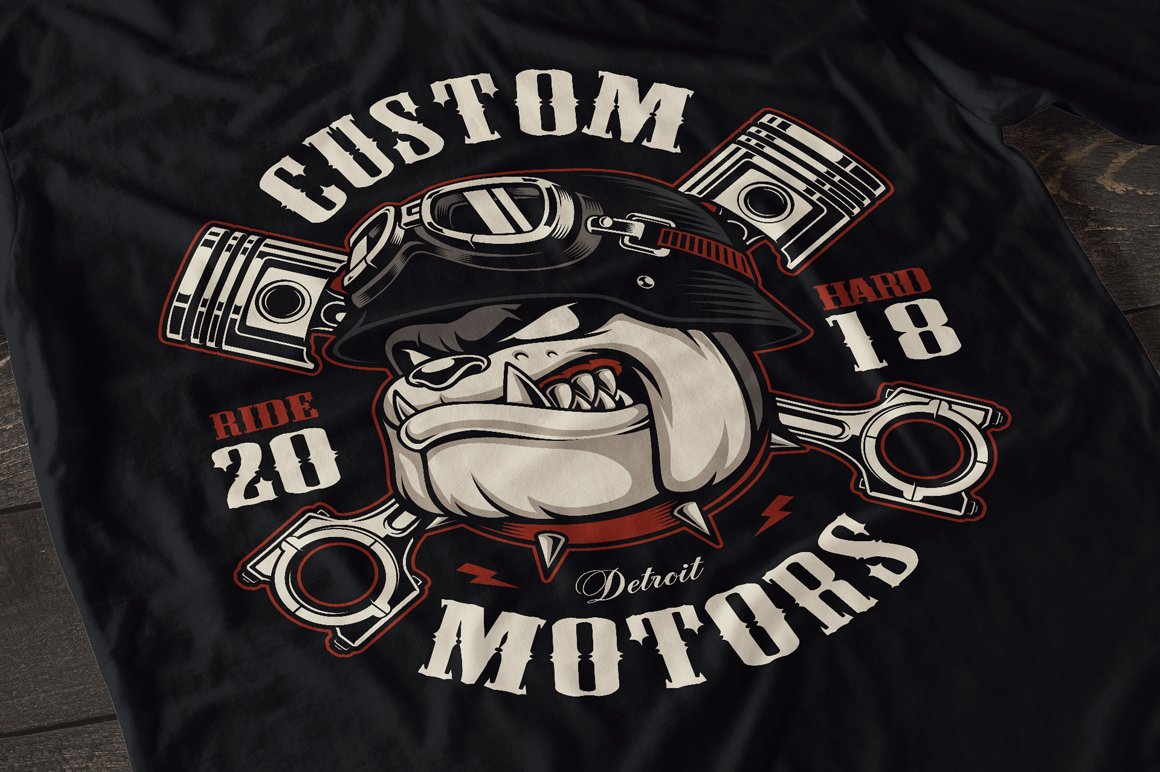 Set of Bikers Shirt Designs. example image 6
