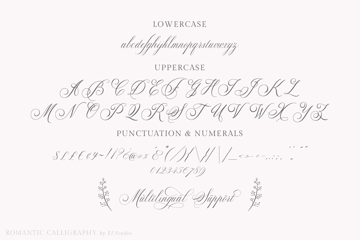Glaston Romantic Calligraphy example image 12