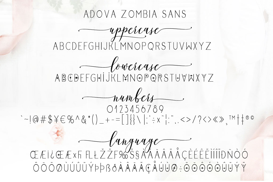Adova zombia Font Duo example image 11