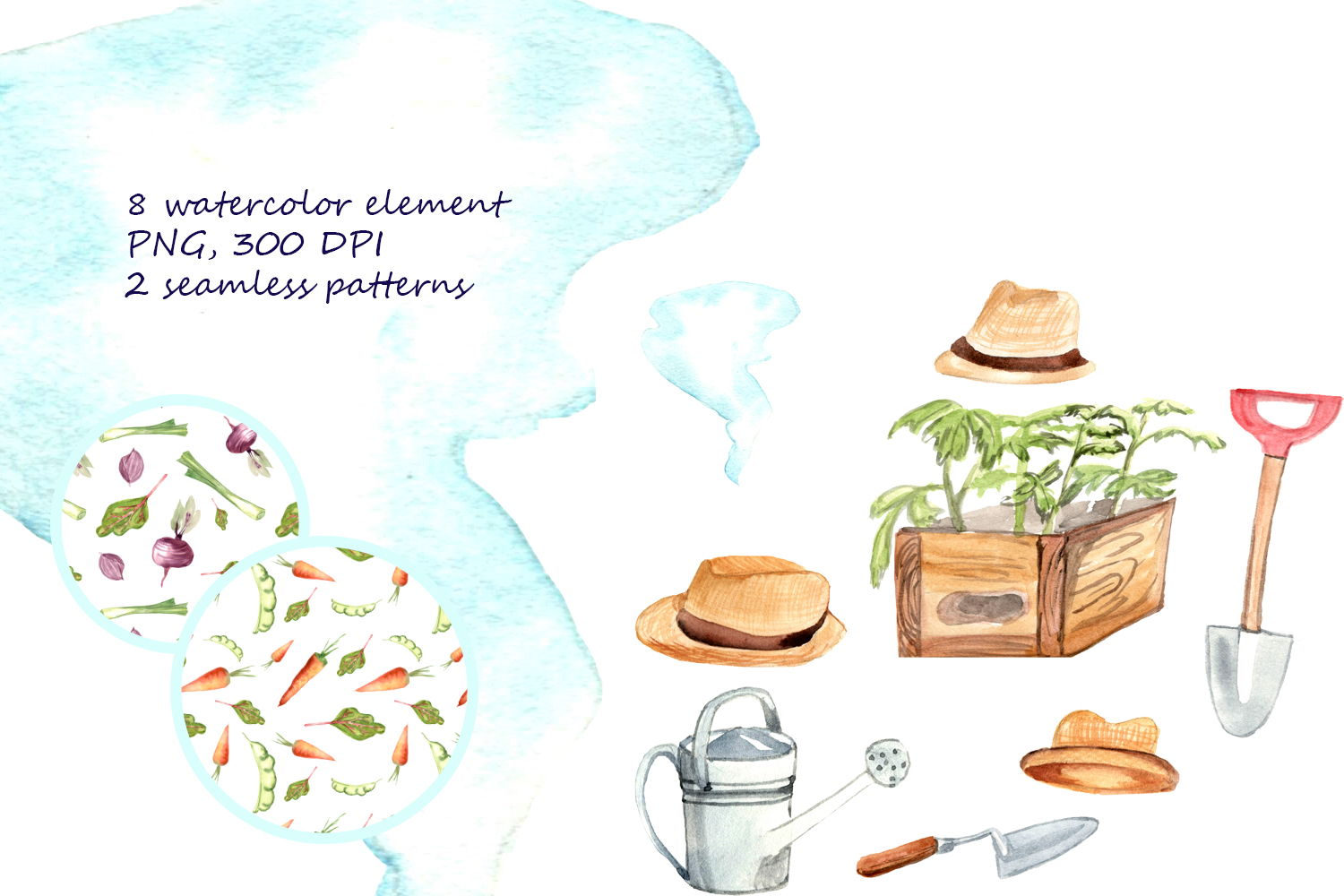 HAPPY GREENHOUSE watercolor character example image 6