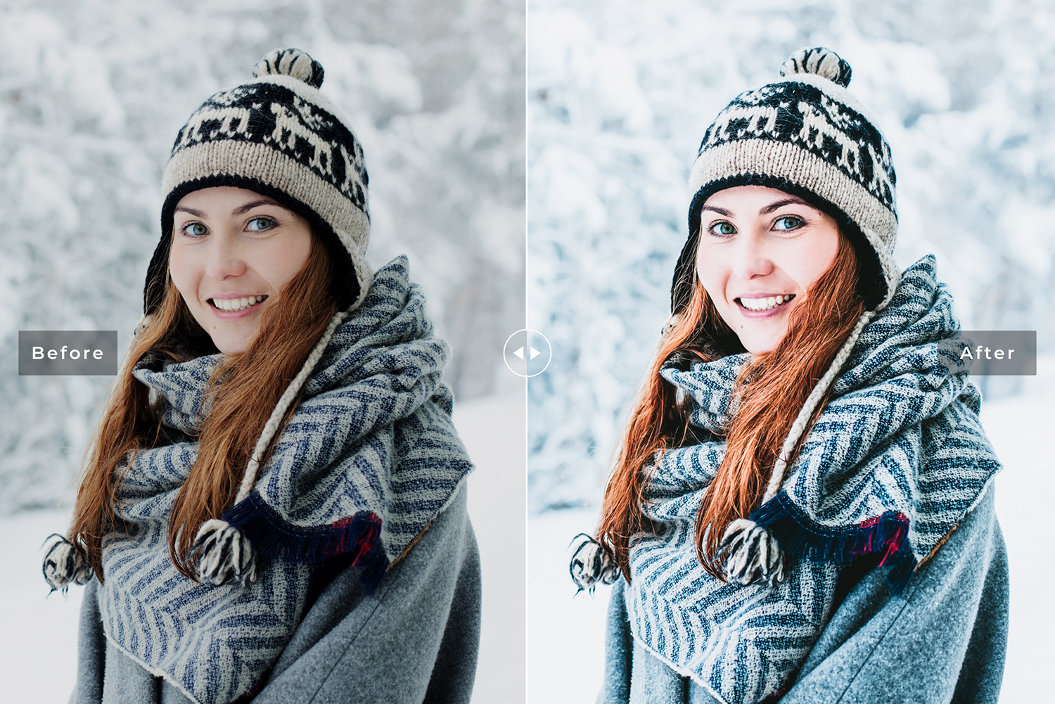 Let It Snow Mobile & Desktop Lightroom Presets example image 4