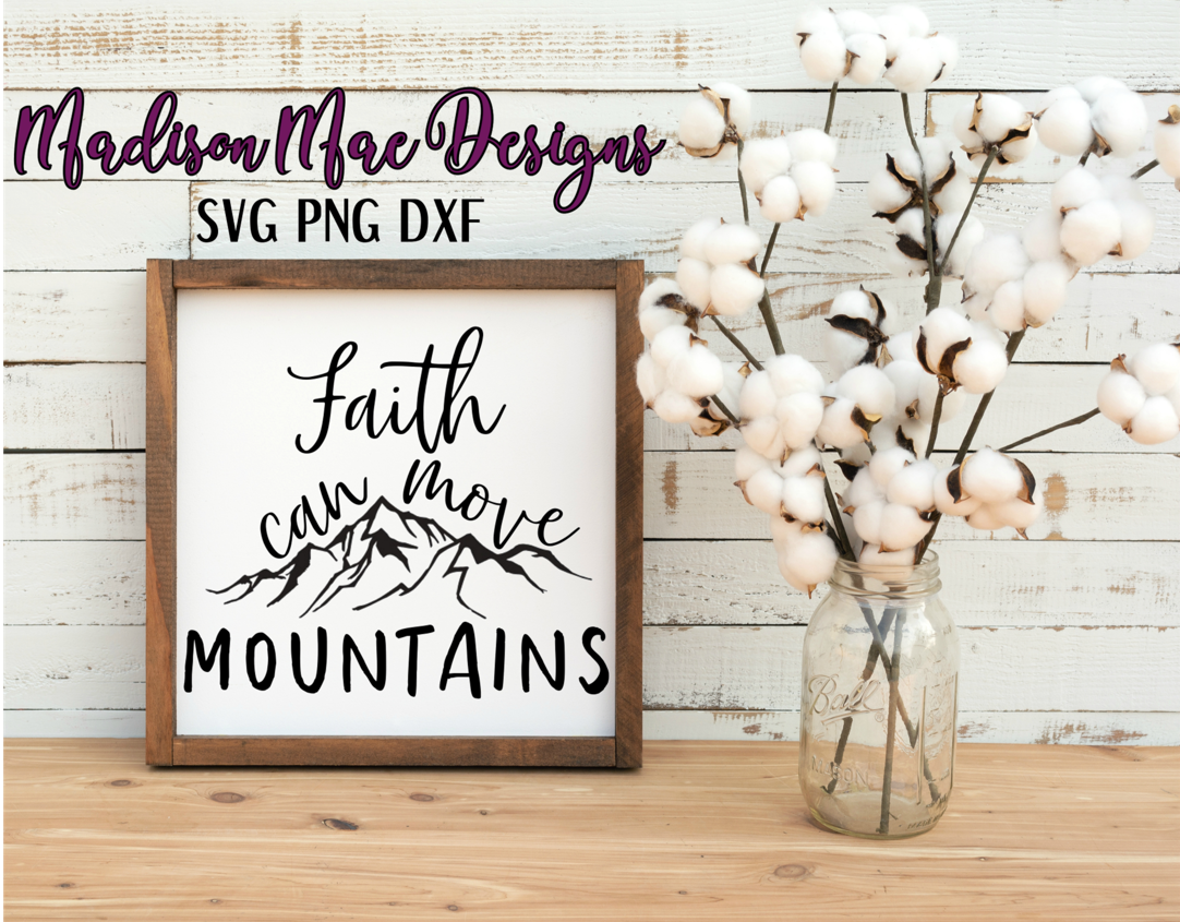 Faith Can Move Mountains  Christian SVG example image 5