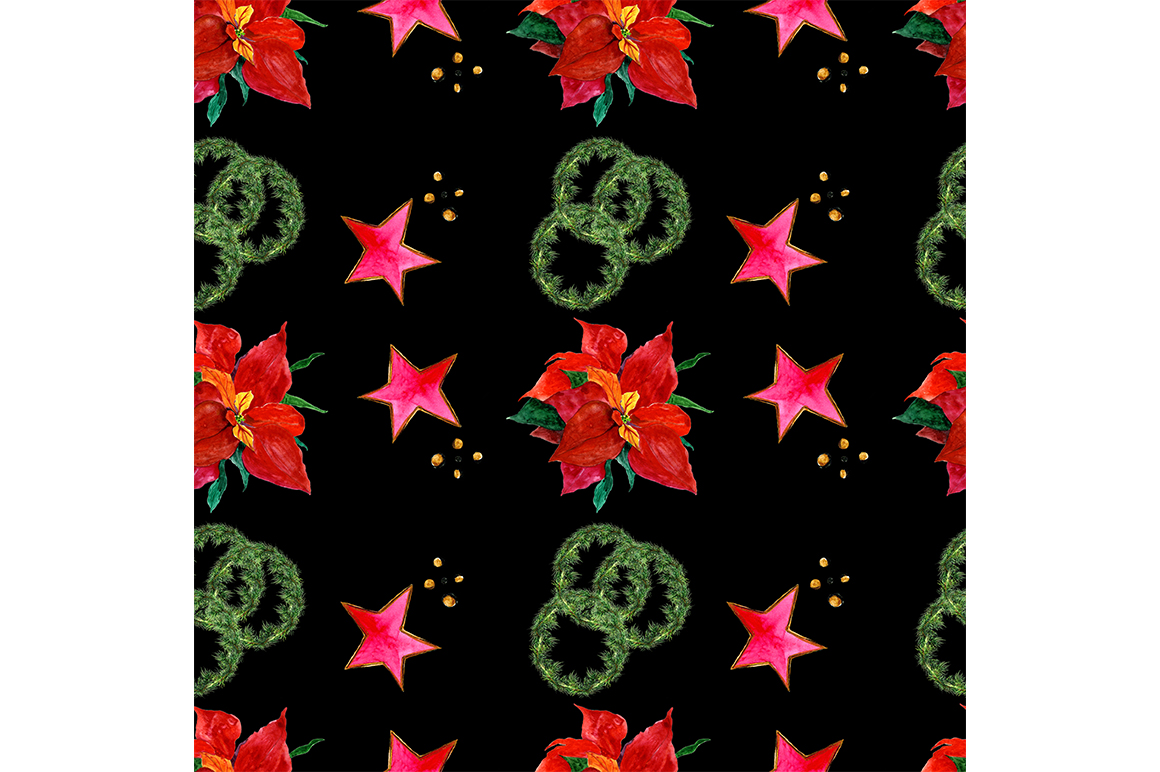 Seamless Christmas pattern example image 1