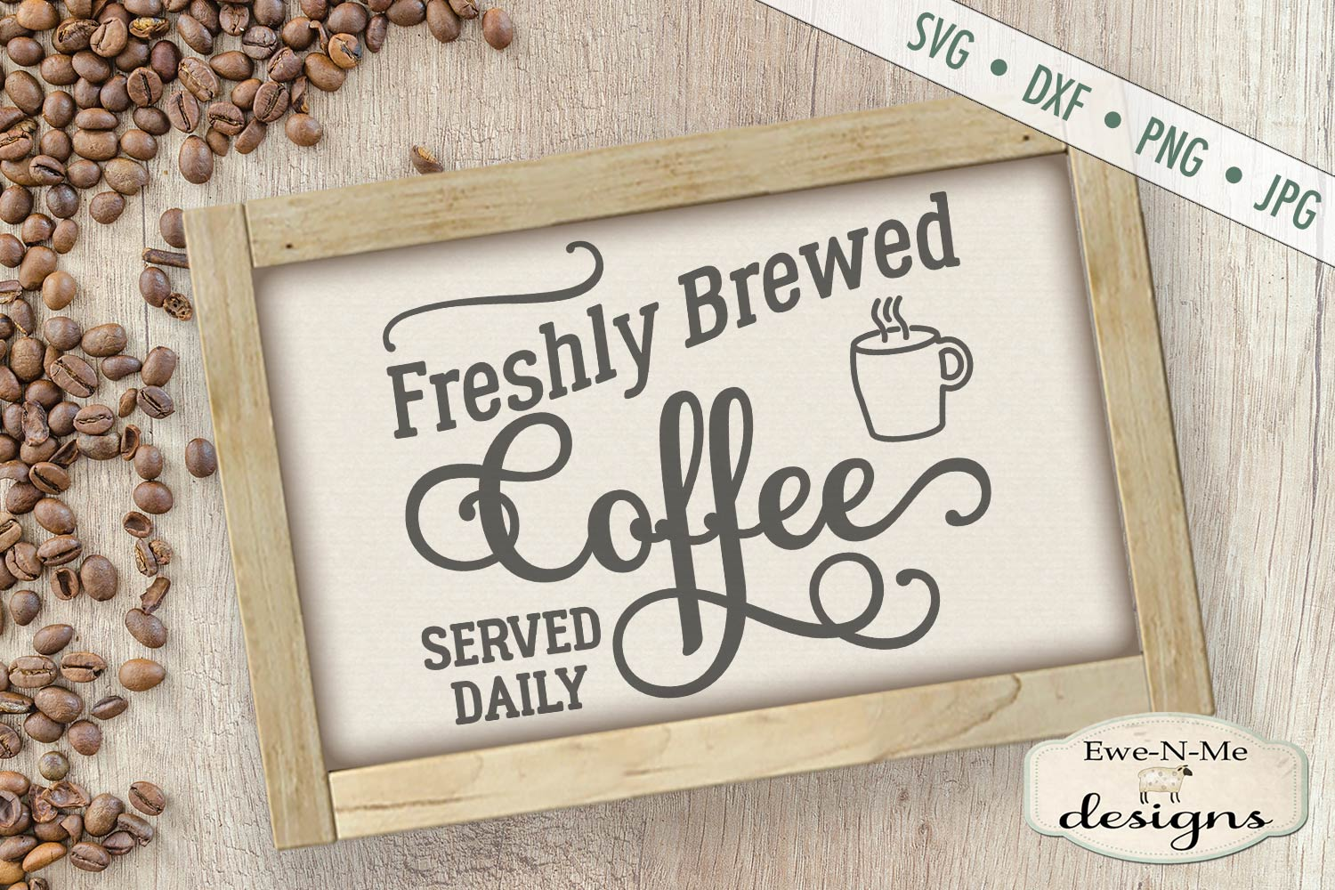 Fresh Brewed Coffee SVG DXF Files example image 1