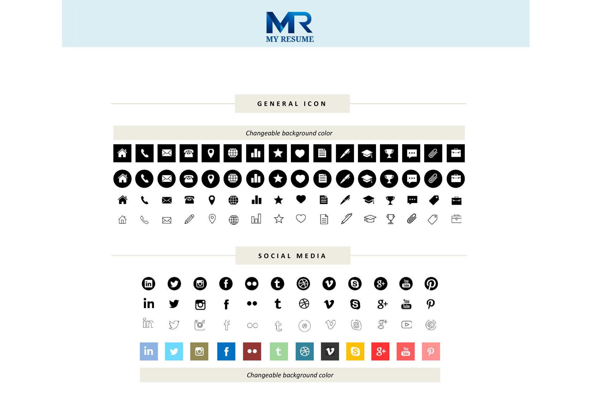 Creative Resume Template CV example image 5