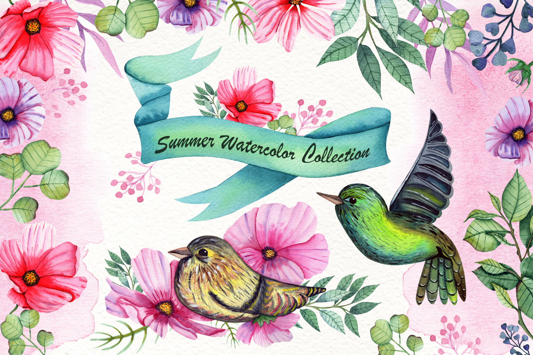 Watercolor Summer Collection example image 1