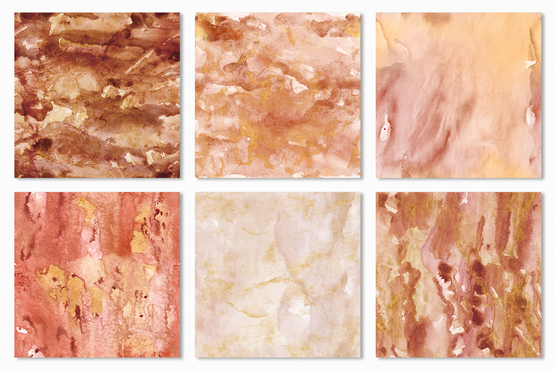 20 Seamless Watercolor Textures - Burnt Orange Backgrounds example image 21