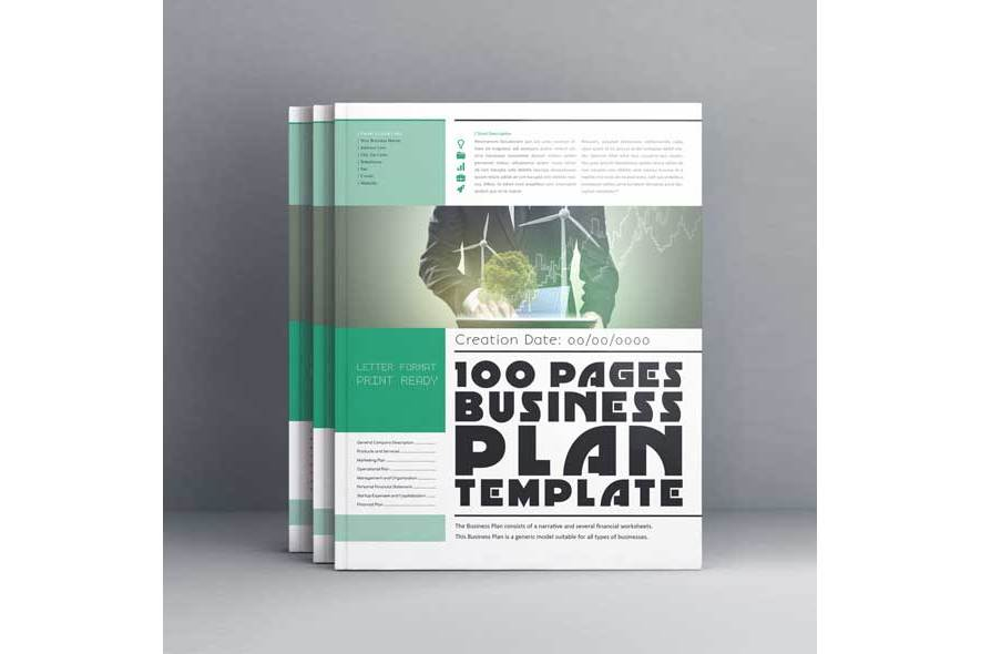 100 Pages Us Letter Business Plan example image 4