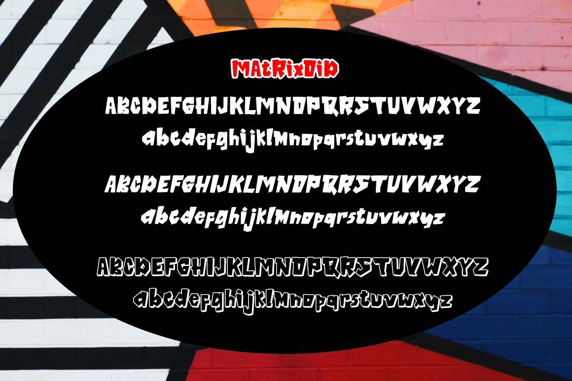 Matrixoid Bold Display font example image 6