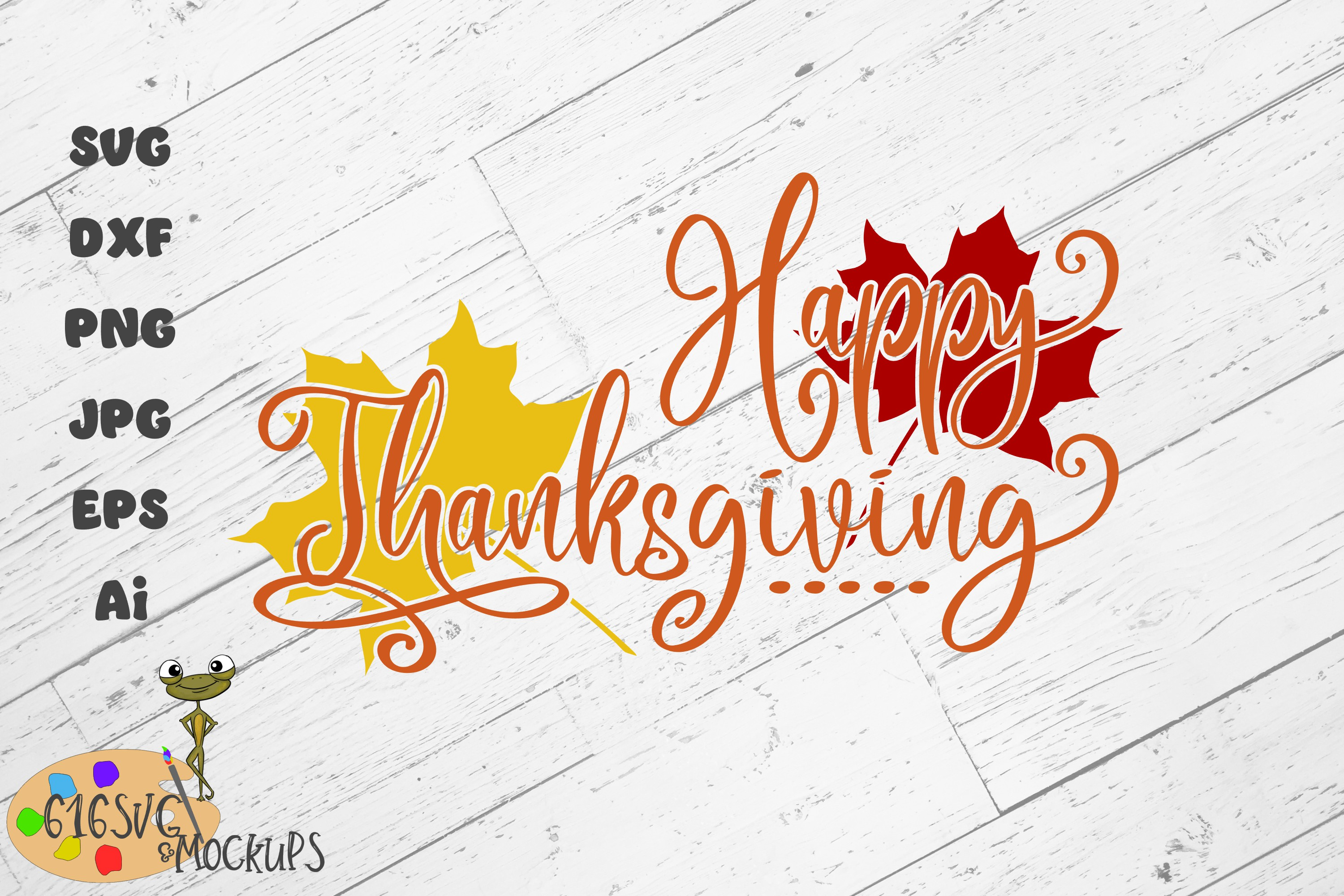 Happy Thanksgiving SVG example image 1