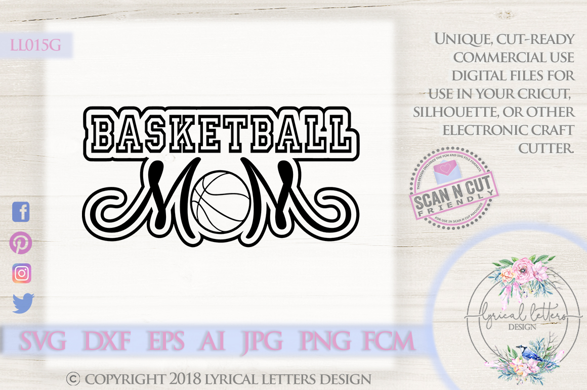 Basketball Mom SVG DXF FCM Cut File LL015G example image 1