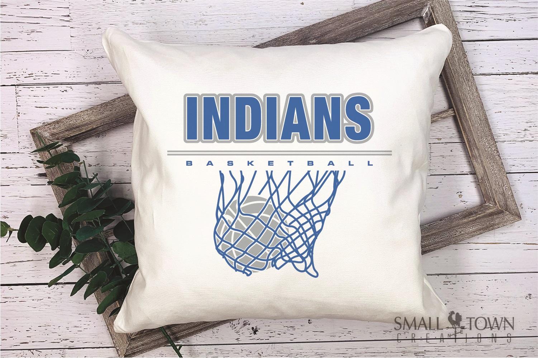 Indian, Indian basketball, Team, logo, PRINT, CUT & DESIGN example image 3